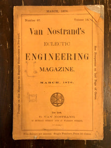 40 Edition Set Van Nostrand's Eclectic Engineering Magazine