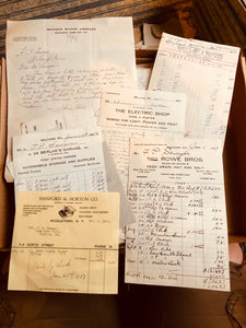 Sawyer Family Innkeepers Documents Set c1920