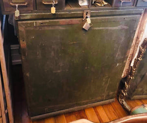 Vintage Jobsite Lockbox with Flat File Drawers