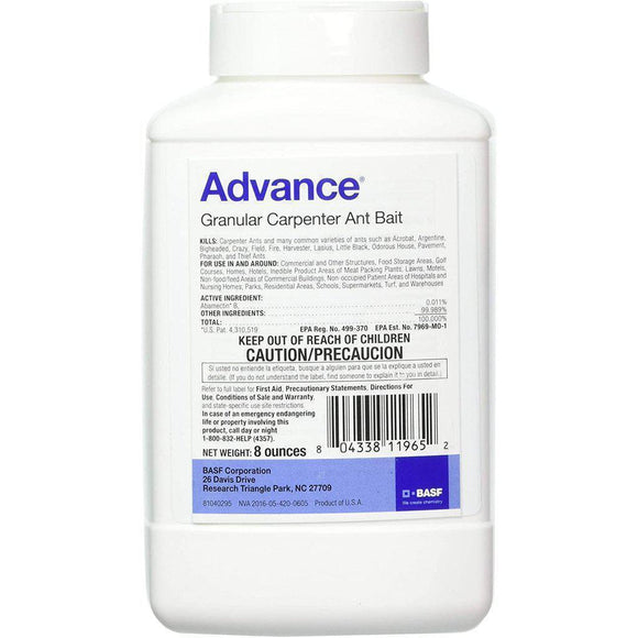 Advance Carpenter Ant Granular Bait-Granular Bait-Bug Clinic-Small 8oz-Bug Clinic Bugclinic.com - Get rid of all your pests - Do it yourself pest control