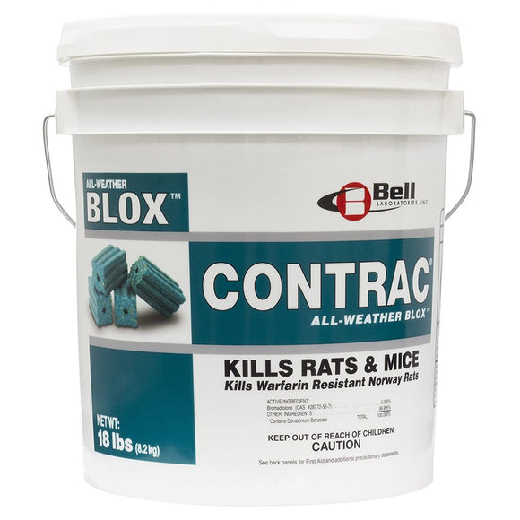 Contrac Blox - 18 lbs-Mice/Rat Poison-Bell Laboratories-Bug Clinic Bugclinic.com - Get rid of all your pests - Do it yourself pest control