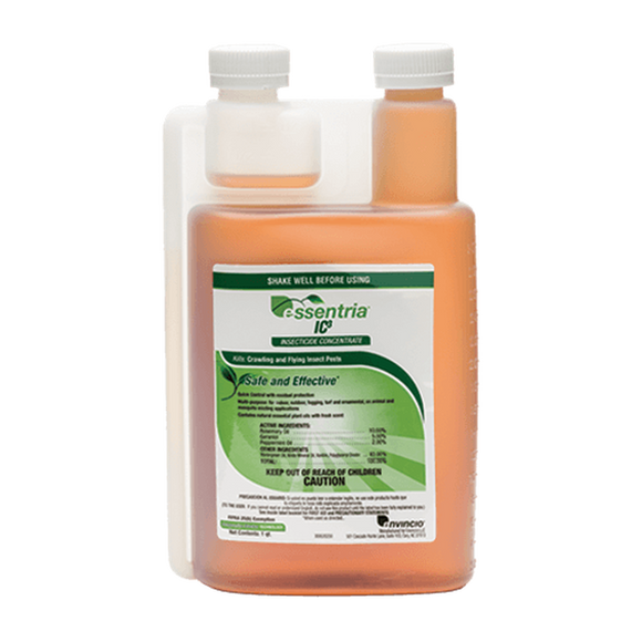 Essentria IC3 Insecticide Concentrate - an environmentally friendly pest control solution Controls: Ants, bed bugs, cockroaches, fleas, flies, mosquitoes, occasional invaders, spiders, ticks, wasps and more