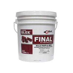 Final Blocks Rodenticide 18 lbs-Mice/Rat Poison-Bell Laboratories- Bug Clinic - Do-It-Yourself Pest Control Supplies