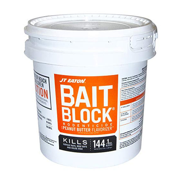 JT Eaton Bait Block (Peanut Butter) 9 lb-Mice/Rat Poison-JT Eaton-Bug Clinic Bugclinic.com - Get rid of all your pests - Do it yourself pest control