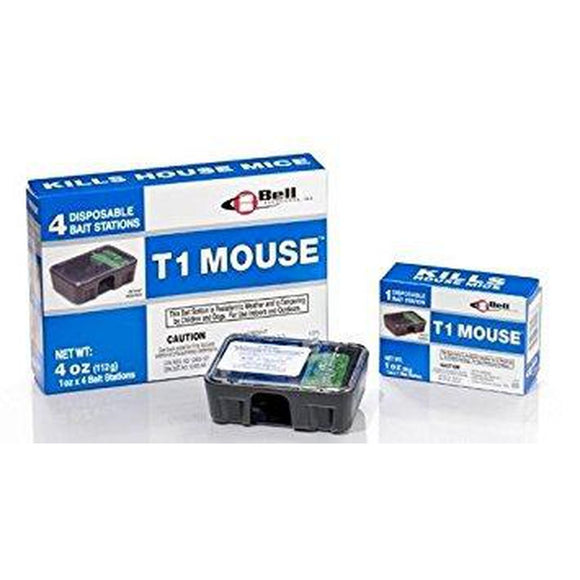 T-1 Mouse Bait Station - 4 Pack-bugclinic-Bug Clinic Bugclinic.com - Get rid of all your pests - Do it yourself pest control