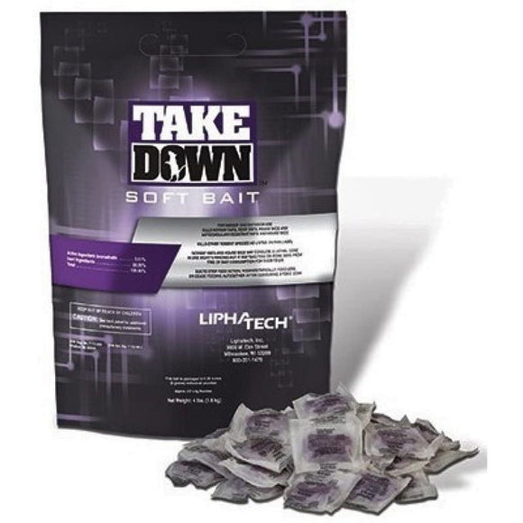 Take Down Soft Bait Rodenticide 4 lb Bag-Mice/Rat Poison-Bug Clinic
