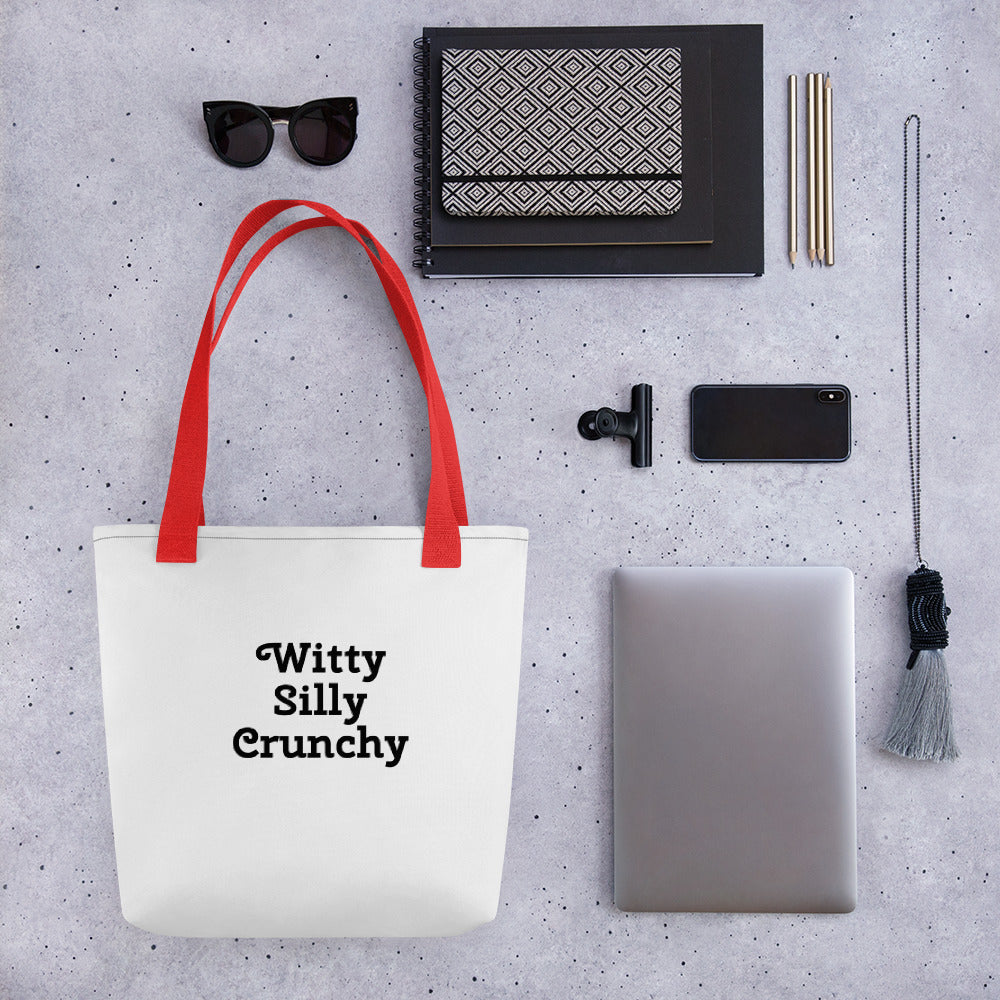 Witty Silly Crunchy Tote bag
