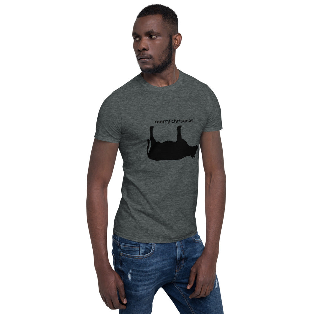 Cow in a Ditch Christmas Short-Sleeve Unisex T-Shirt