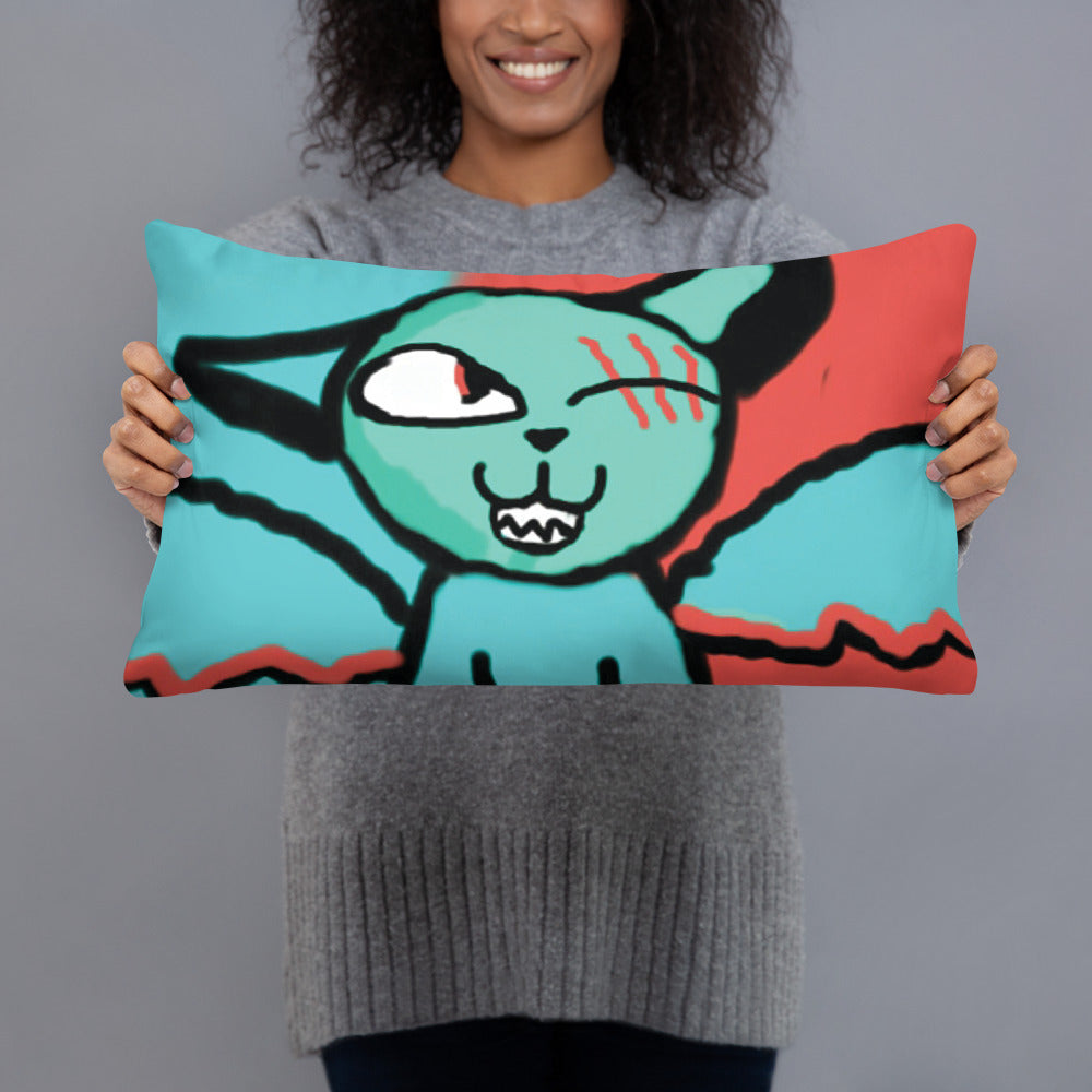 One Eyed Cat Pillow
