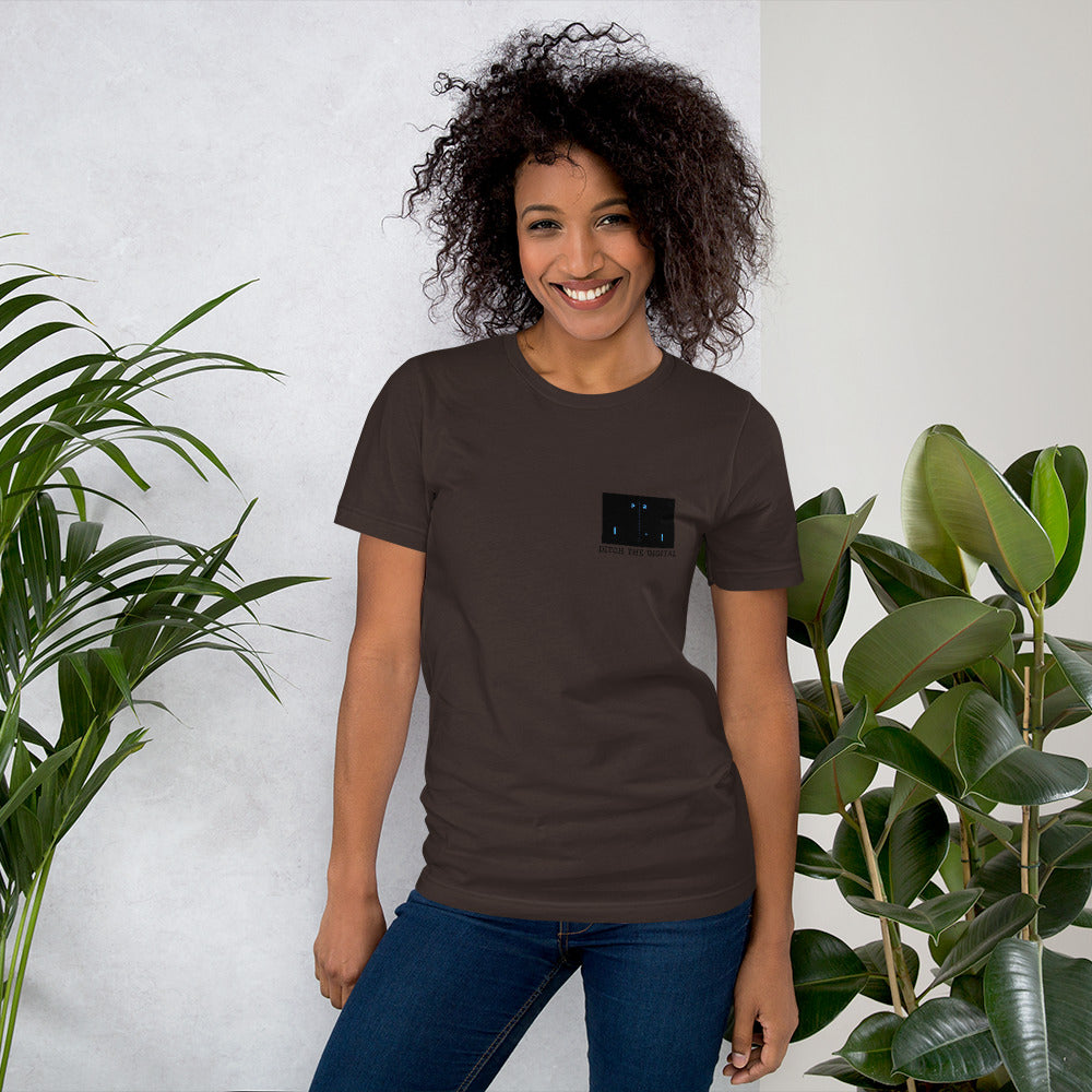 Ditch the Digital with PONG Unisex T Shirt