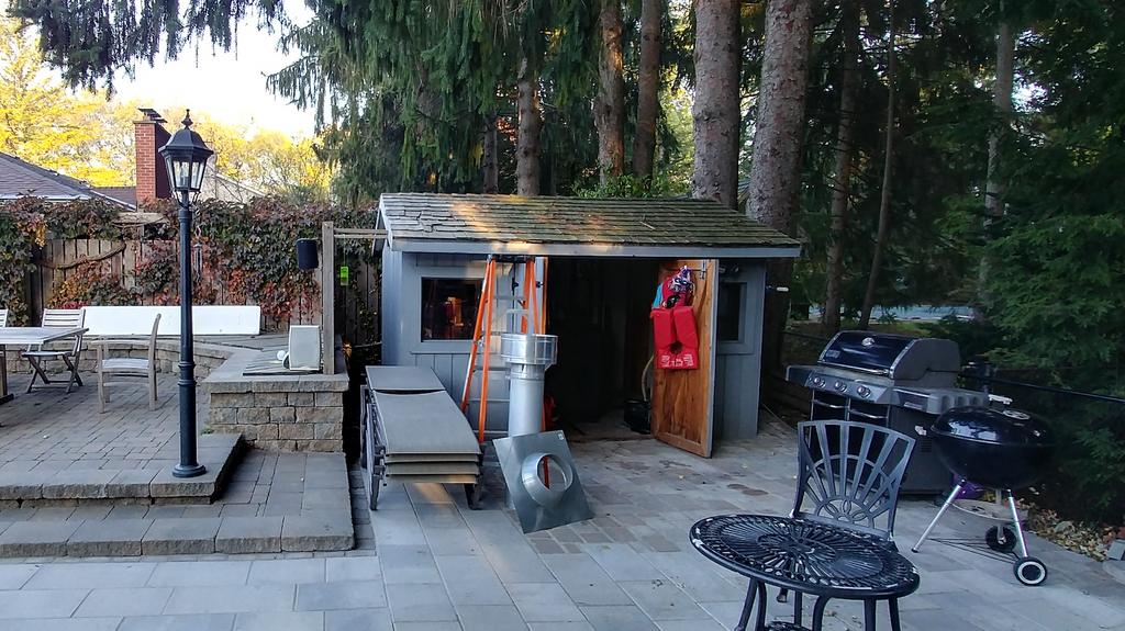 The old woodshed pre demolition - Dave's Backyard Reno