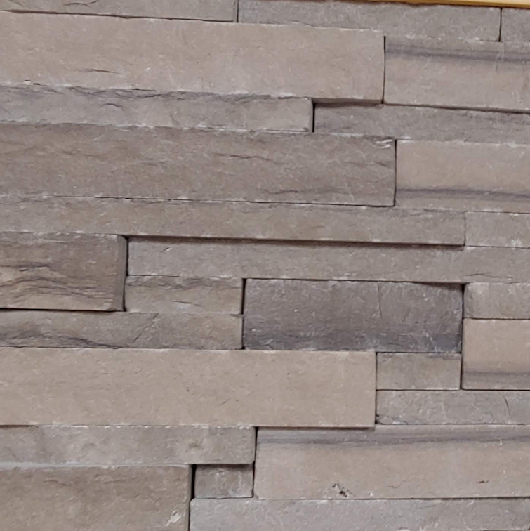 "Brown Limestone Ledge Drystack Thin Veneer - Sawn Height 1"" and 2"" - Flats"