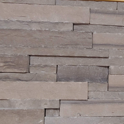 "Brown Limestone Ledge Drystack Thin Veneer - Sawn Height 1"" and 2"" - Corners"
