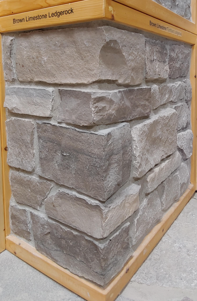 Brown Limestone Ledgerock Thin Veneer - Flats