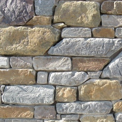 Earth Tone Sandstone Thin Veneer - Tumbled Brown & Blue - Flats