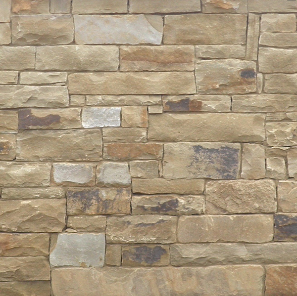 Earthtone Sandstone Thin Veneer - Georgetown Wheat with Brown Blend - Flats