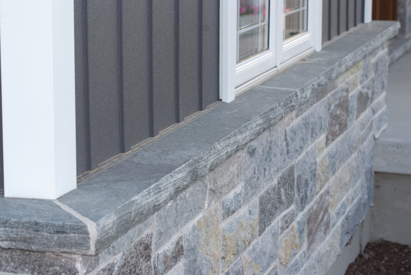 Window Sills with Rock Face & Drip Cut - Elite Blue Granite or Weatheredge Limestone