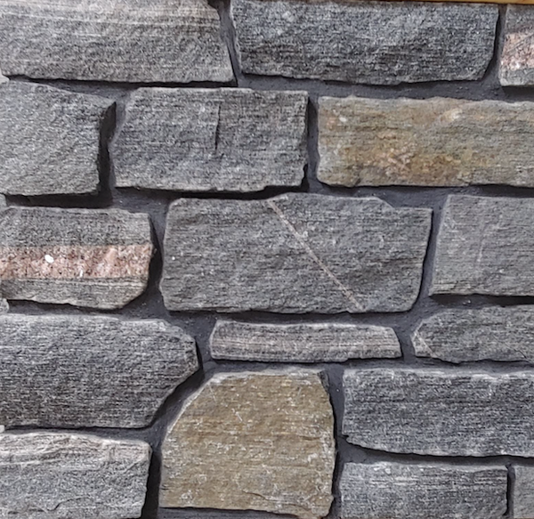 Elite Black Granite Guillotined Ledgerock - Building Stone