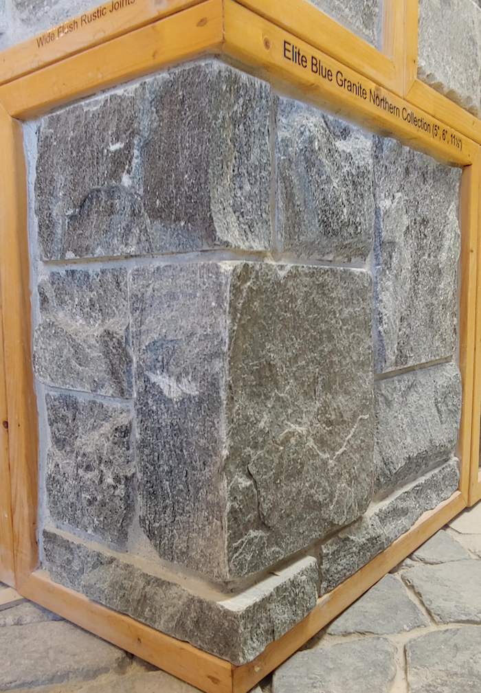"Elite Blue Granite Northern Collection (5"", 6"", 11 1/2"") - Thin Veneer - Corners"
