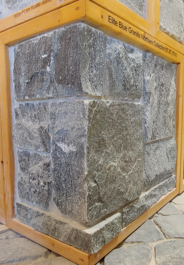 "Elite Blue Granite Northern Collection (5"", 6"", 11 1/2"") - Split Face Bed - Building Stone"