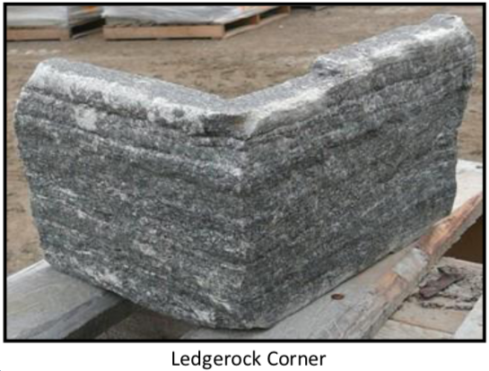 Elite Blue Granite Ledgerock Thin Veneer - Corners
