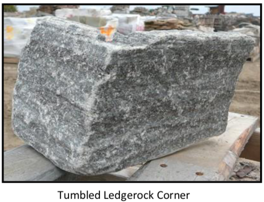 Elite Blue Granite Ledgerock Thin Veneer - Tumbled - Corners