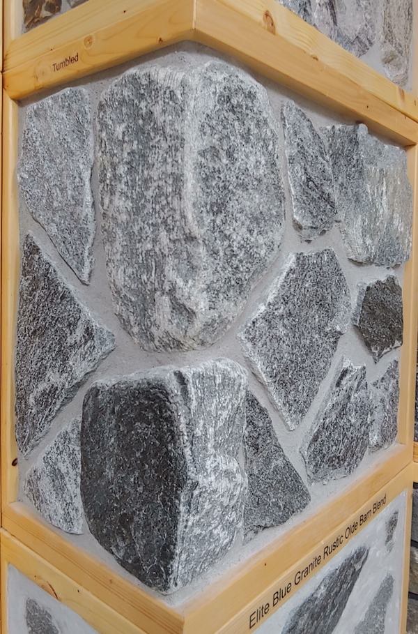 Elite Blue Granite Random Thin Veneer - Tumbled Mixed with Non-Tumbled - Flats