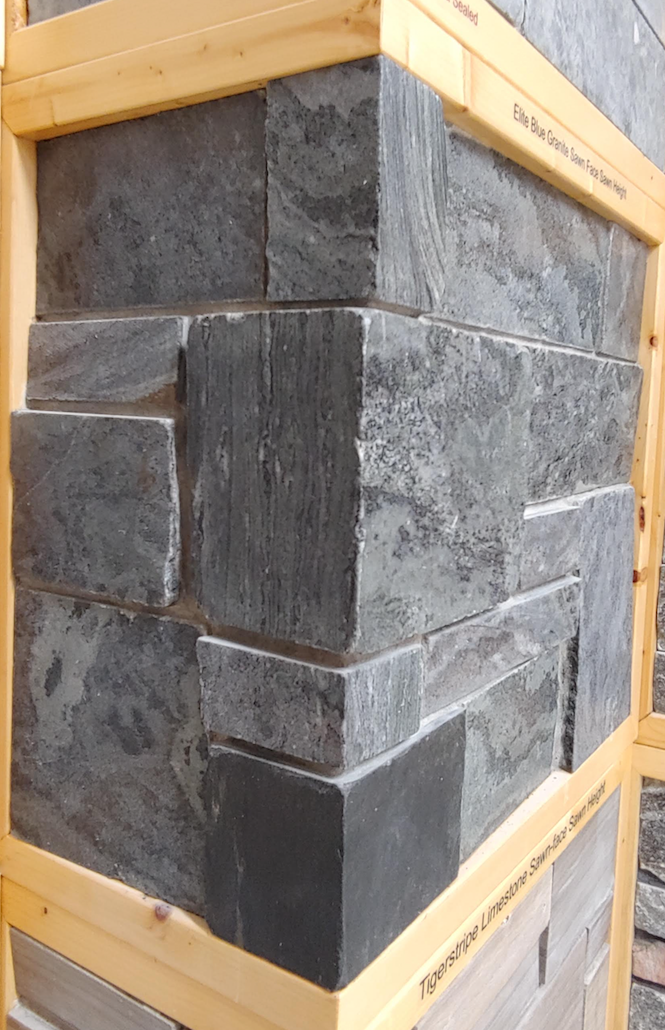 Elite Blue Granite Sawn Face Sawn Height - Thin Veneer - Corners