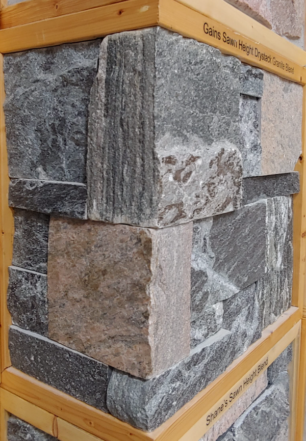 Gain's Sawn Height Drystack Granite Blend Thin Veneer - Flats