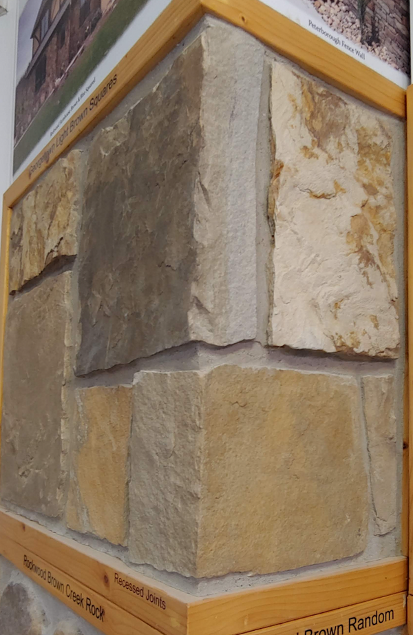 Georgetown Light Brown Squares - Earth Tone Sandstone Thin Veneer - Flats