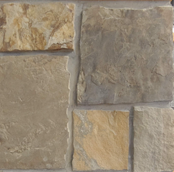 Georgetown Light Brown Squares - Earth Tone Sandstone Thin Veneer - Corners