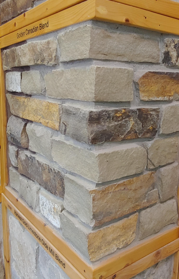 Golden Canadian Blend - Earth Tone Thin Veneer - Corners