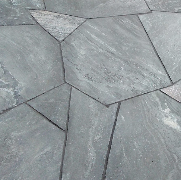Elite Blue Granite Flagstone, Random Oversized, Sawn and Textured Finish