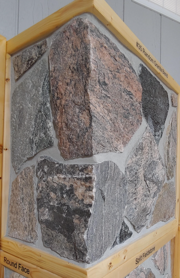 Granite Fieldstone #35 Blend Thin Veneer - Random Split Face - Corners