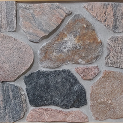 Granite Split Fieldstone Thin Veneer - Random - Flats