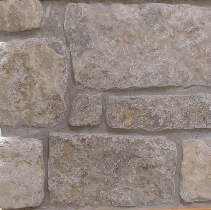 Harvest Gold Limestone - Tumbled Squared Thin Veneer - Corners