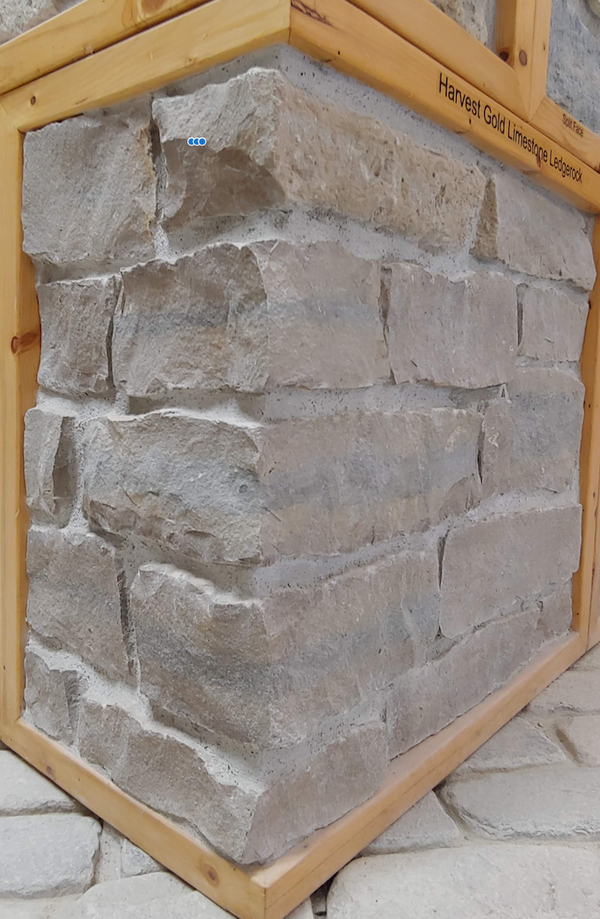 Harvest Gold Limestone Ledgerock Thin Veneer - Flats