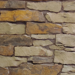 Peterborough Fence Wall - Earth Tone Blend Thin Stone Veneer - Flats