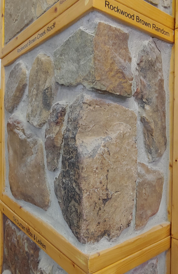 Rockwood Brown Random Split Face - Thin Stone Veneer - Corners