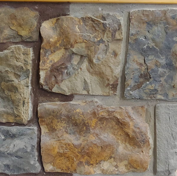 Rockwood Farmhouse Brown and Blue Squared - Thin Stone Veneer - Flats