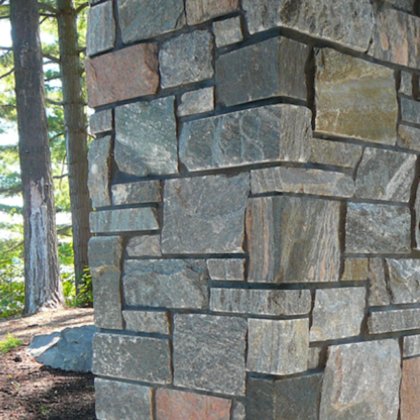 Shane's Lake Temogami Blend - Elite Blue & Pink Granite Sawn Height - Building Stone - Flats