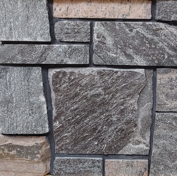 Shane's Lake Temogami Blend - Elite Blue & Pink Granite Sawn Height - Thin Stone Veneer - Flats