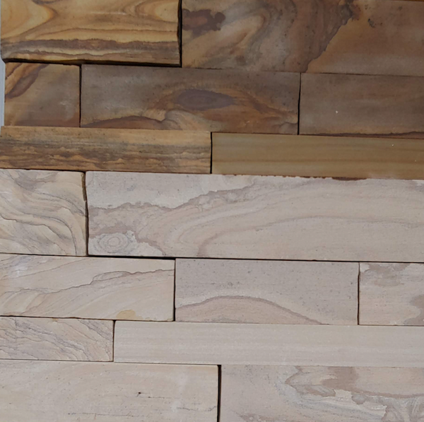 Timber Creek Ledge Thin Veneer - Sawn Face Drystack - Brown and Beige - Flats