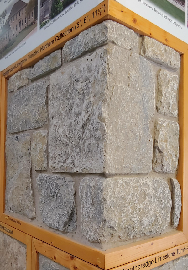 Weatheredge Limestone Northern Collection Thin Veneer - Tumbled - Flats
