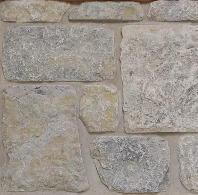 Weatheredge Limestone Thin Veneer - Custom Sawn Heights - Tumbled - Flats