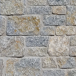 Weatheredge Limestone Bed Face - Thin Veneer - Split Face Sawn Height Tumbled - Corners