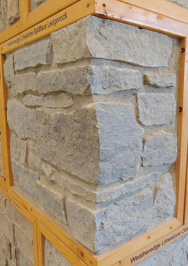 Weatheredge Limestone Spliface Ledgerock Thin Veneer - Corners