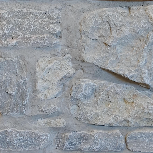 Weatheredge Limestone Thin Veneer - Split Face Olde Mill Blend - Tumbled - Corners