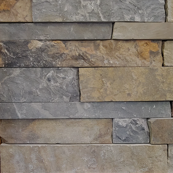 Wolf Creek Colonial Earth Tone Blend - Thin Veneer Natural Stone - Flats