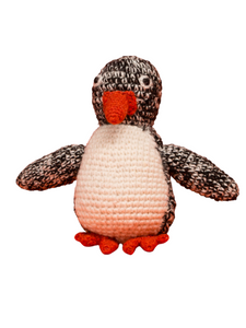 Penguin Organic Crochet Squeaky Toy